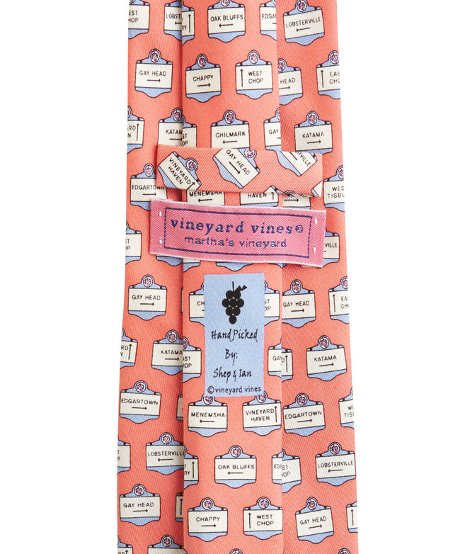 Martha's Vineyard Signs Tie