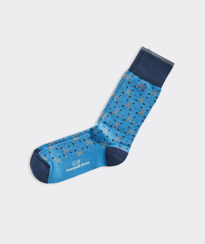 Hockey Sticks Icon Socks