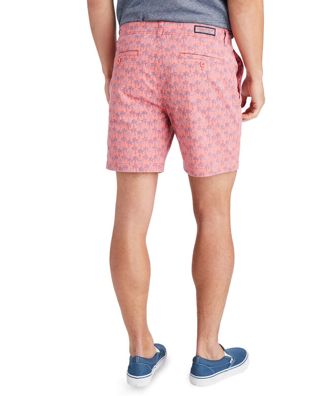 7 Inch Mini Palm Sketch Island Shorts