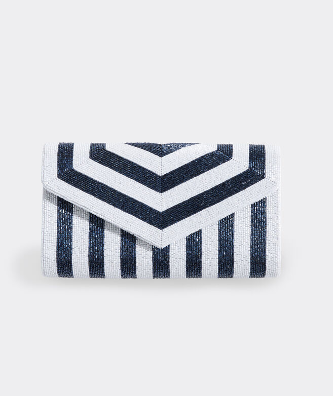 Beaded Stripe Clutch