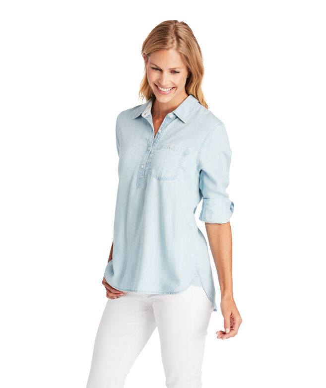 Chambray Chilmark Relaxed Popover