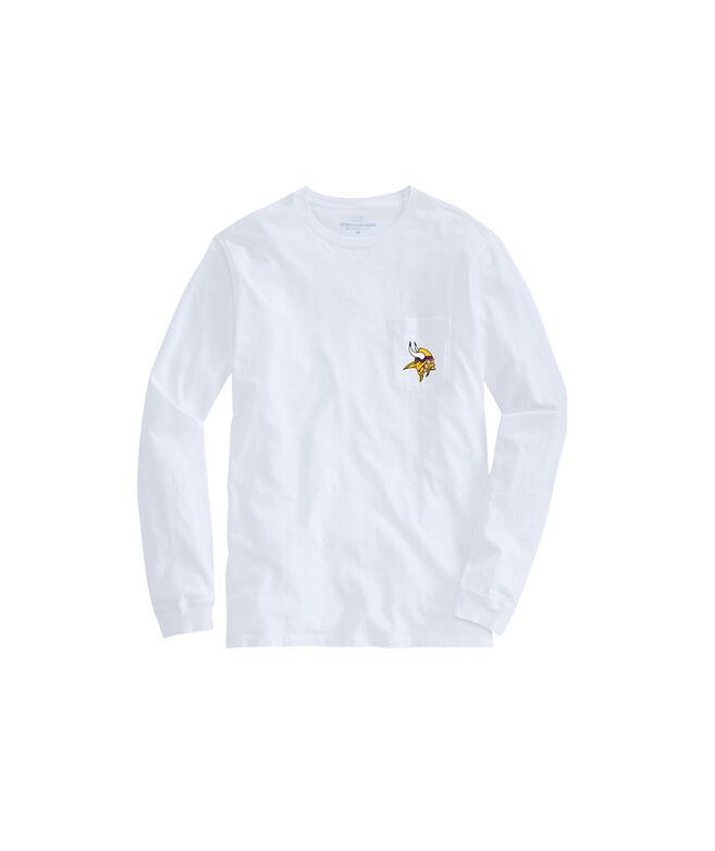 Minnesota Vikings Long-Sleeve Block Stripe T-Shirt