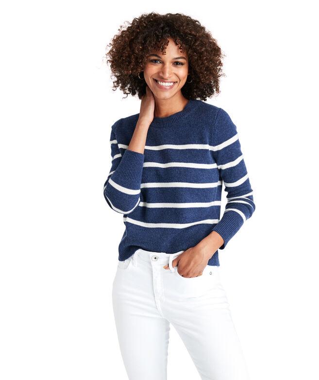 Breton Stripe Cashmere Crewneck Sweater