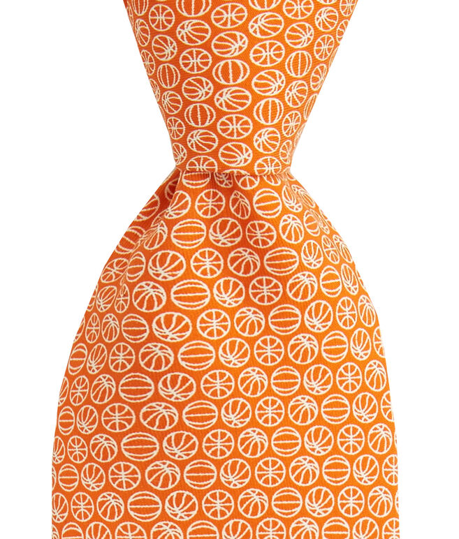 Micro Basketball Printed Tie
