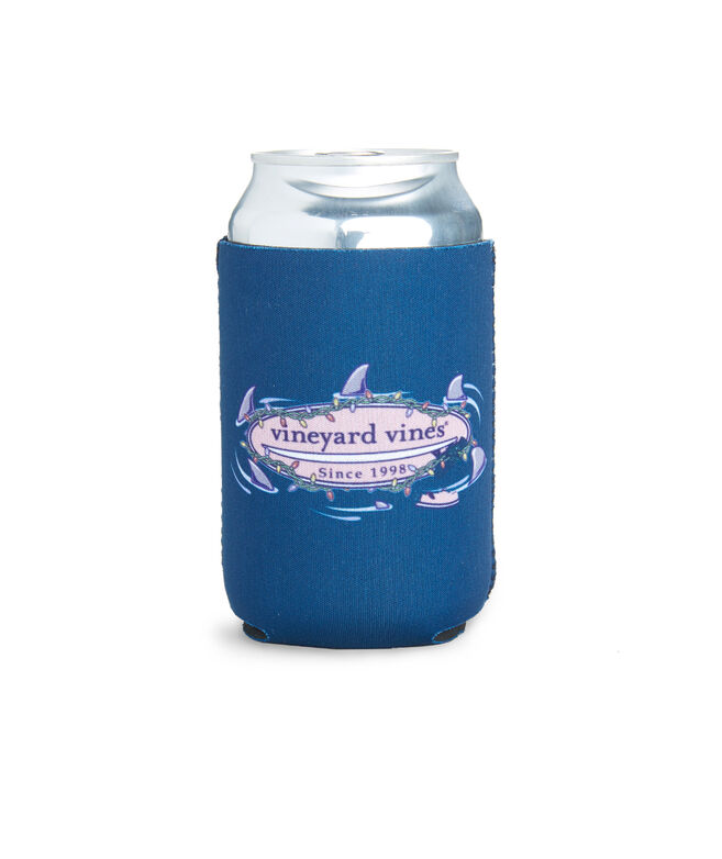 Circling Sharks Lit Surfboard Coozie