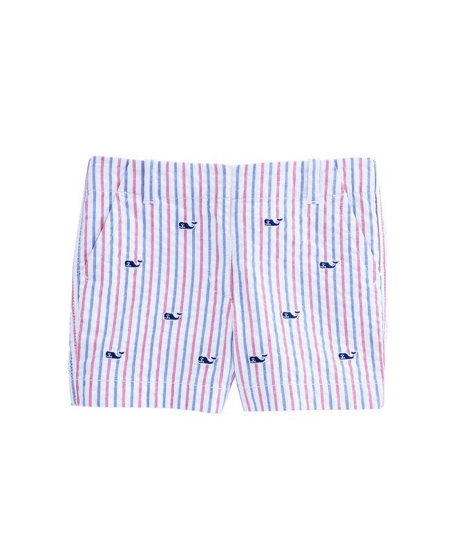 Girls Firework Embroidered Seersucker Every Day Shorts