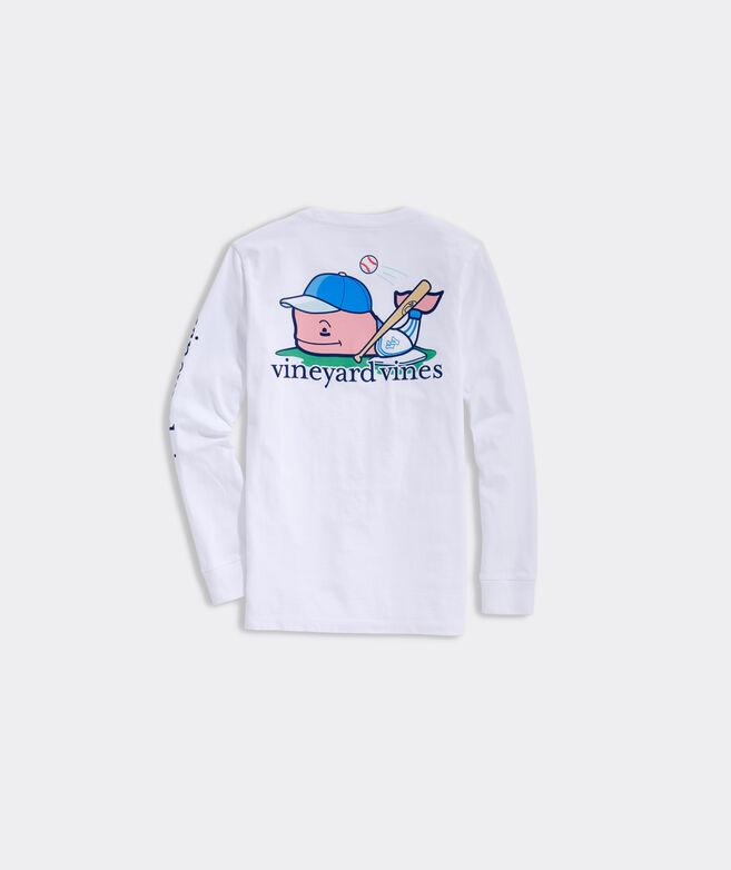 Boys' Baseball Whale Long-Sleeve Pocket Tee