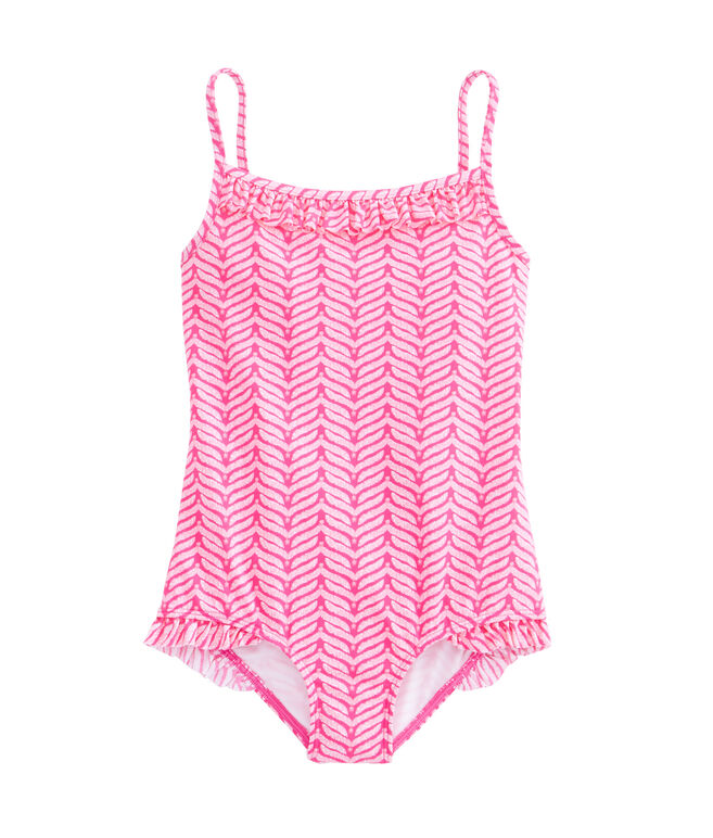 Girls Island Whale Tail One-Piece