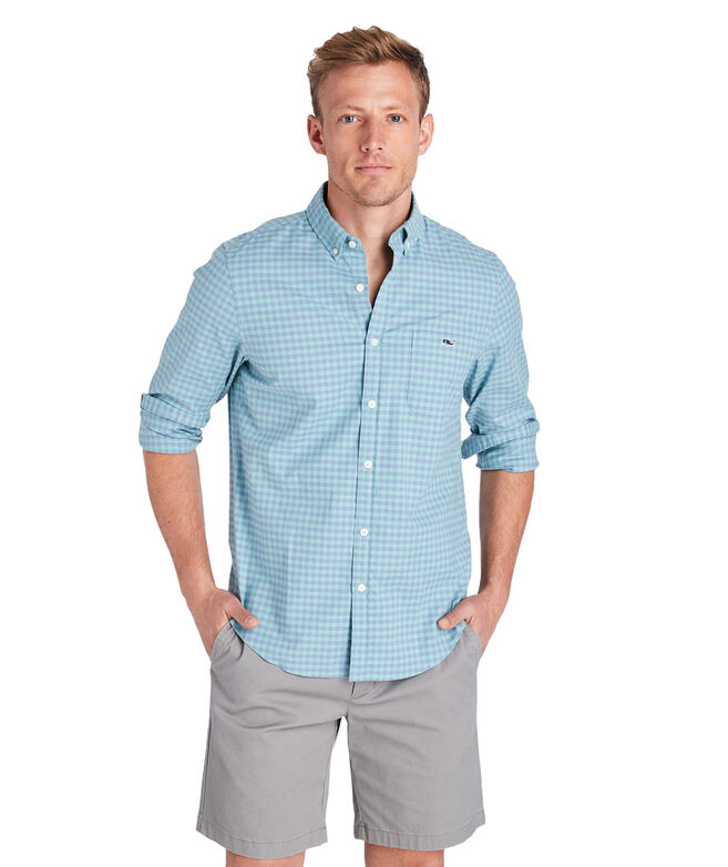 Slim Fit Gingham Madras Tucker Shirt