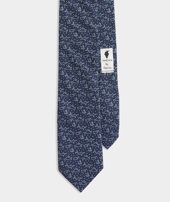 Constellations Printed Tie