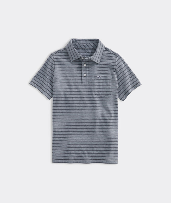 Boys Manapany Stripe Edgartown Polo