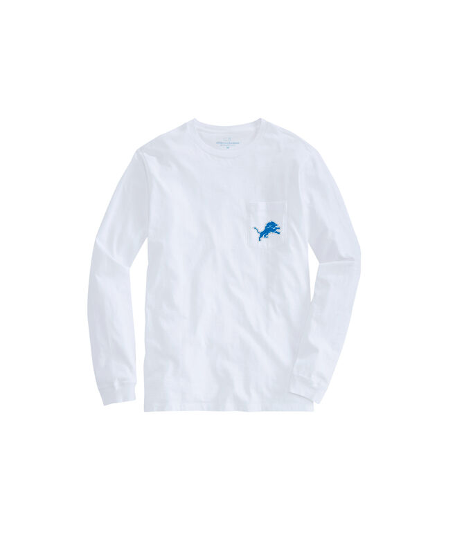 Detroit Lions Long-Sleeve Block Stripe Tee