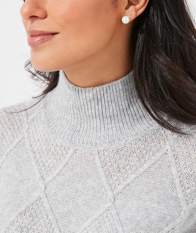 Aran Stitch Mockneck Sweater