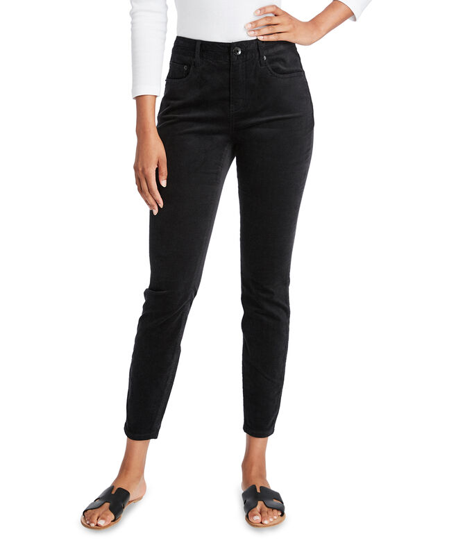 Jamie High Waisted Velveteen Pants