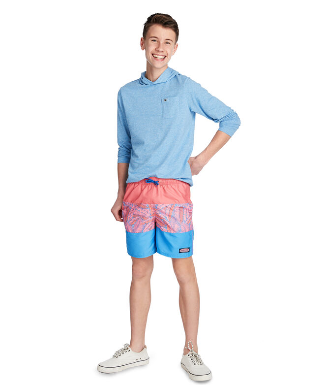 Boys Island Palm Pieced Chappy Trunks