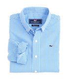 Boys Classic Gingham Whale Shirt