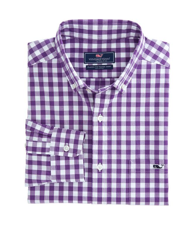 Garter Gingham Classic Tucker Shirt