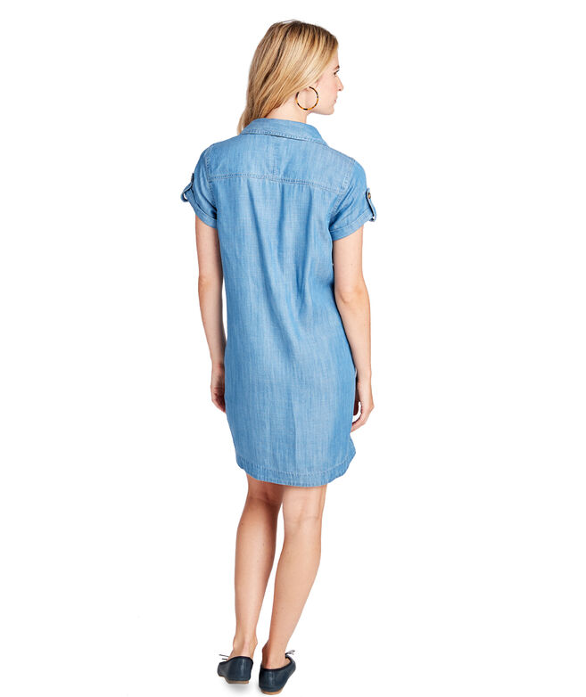 b672c19249 Shop Margo Chambray Utility Shirt Dress at vineyard vines