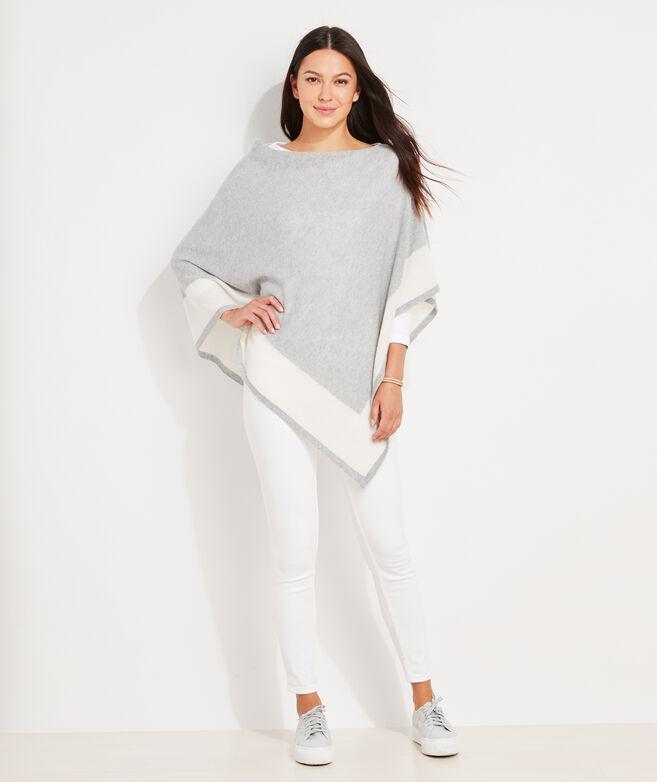Bold Stripe Cashmere Poncho