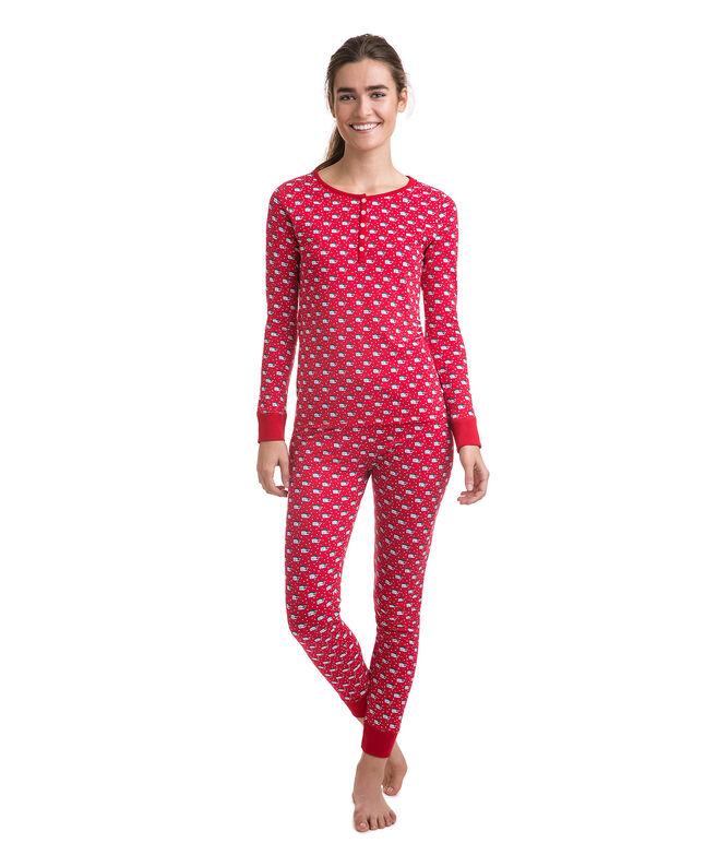 Santa Whale Pima Cotton PJ Set
