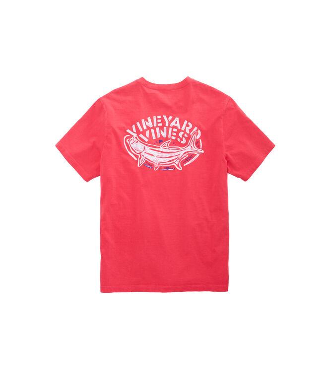 Short-Sleeve Pigment Dyed Tarpon Pocket T-Shirt