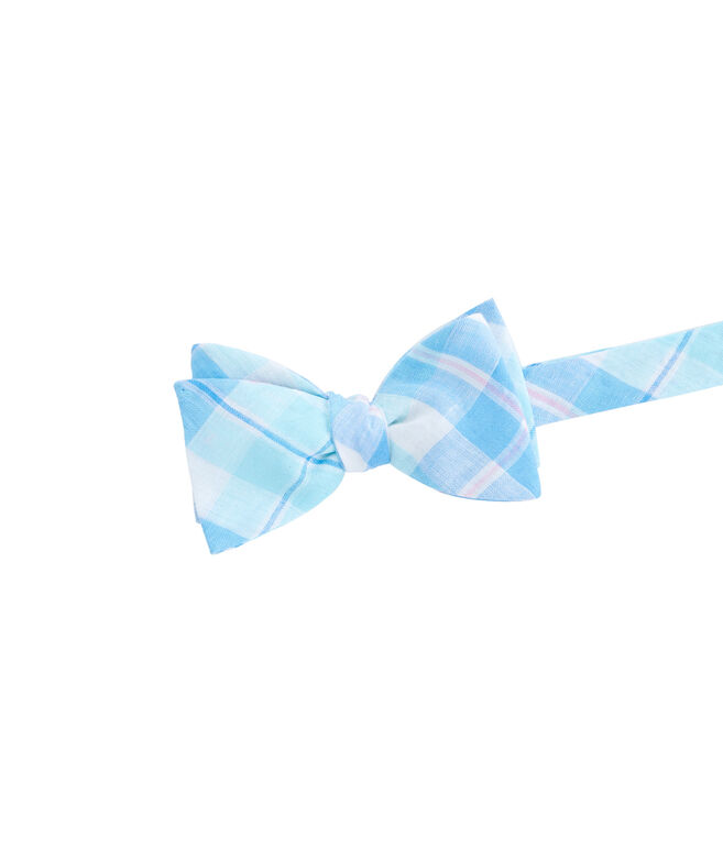 Upper Bluff Plaid Woven Bow Tie