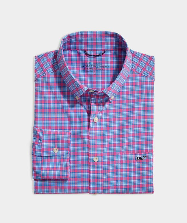 On-The-Go Nylon Small Check Shirt