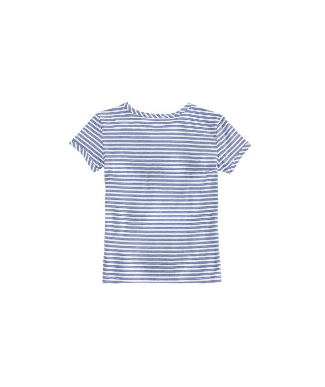 Girls Tri-Whale Stripe Ringer Tee