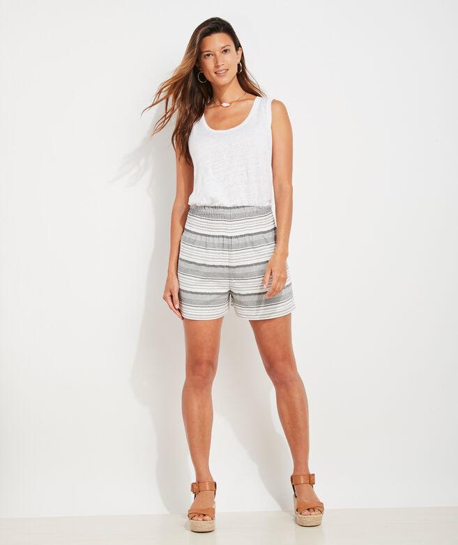 Smocked Stripe Short