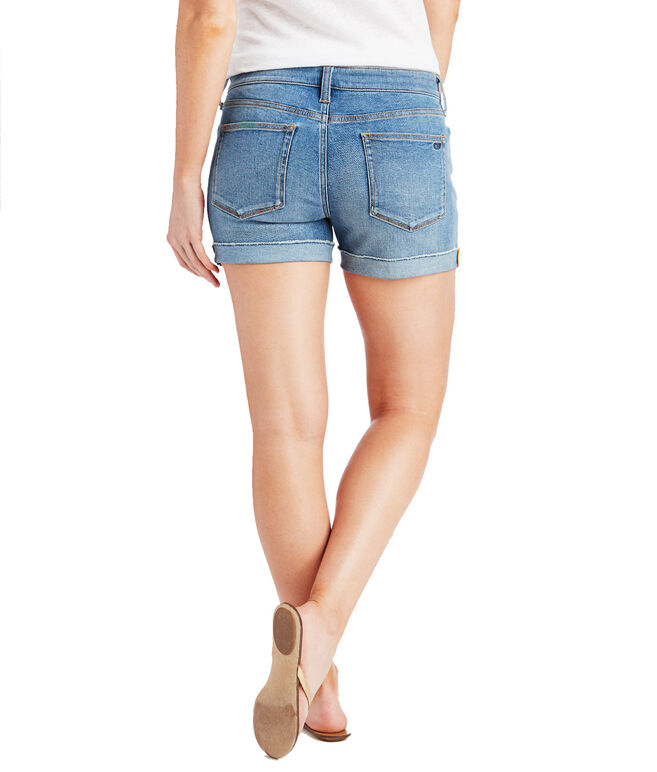 Indigo Raw Cuffed Shorts