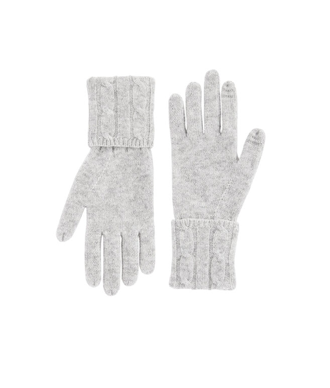 Cashmere Coral Lane Knit Texting Gloves