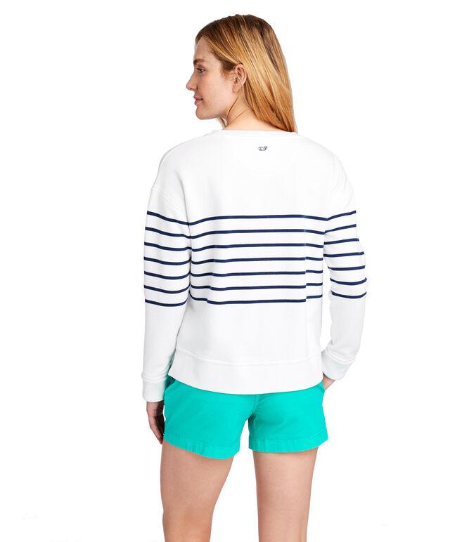 Long-Sleeve Stripe Sweatshirt