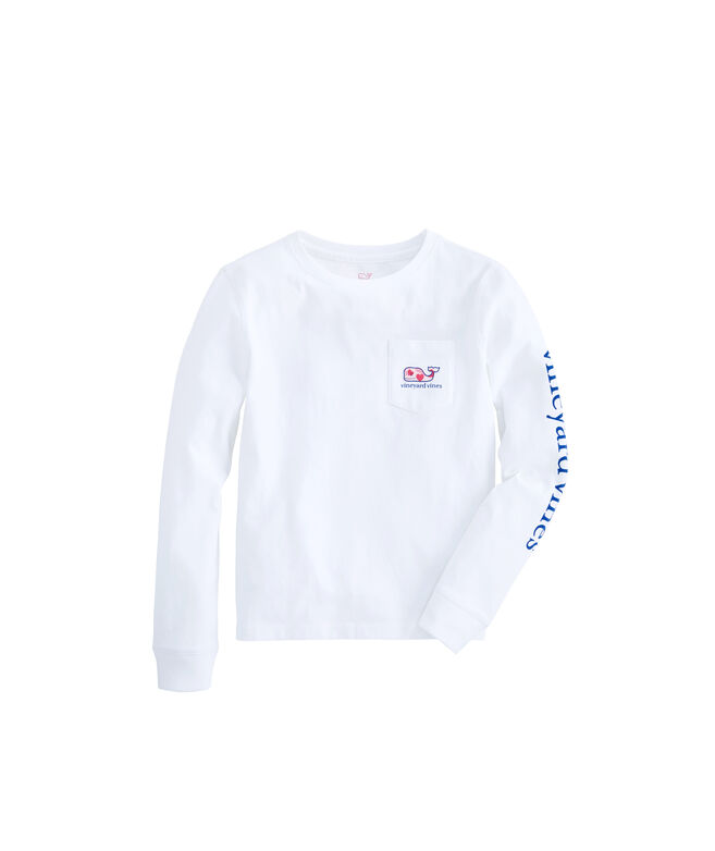 994d6e09 Shop Girls Long-Sleeve Valentine's Day Pocket Tee at vineyard vines