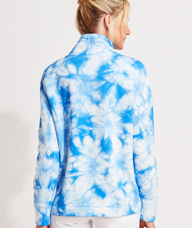 Tie-Dye Funnel-Neck Shep Shirt