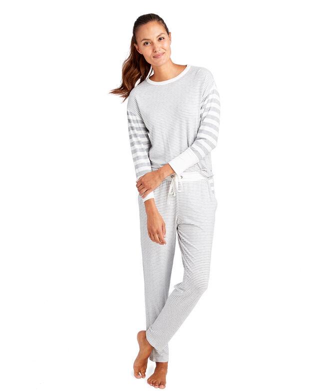 Mixed Stripe Pajama Set