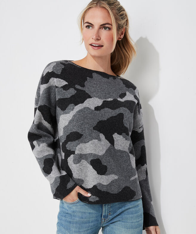 Camo Boatneck Sweater