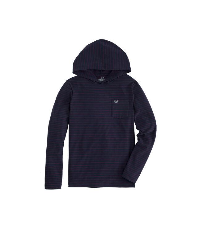 Boys Edgartown Reverse Feeder Stripe Long-Sleeve Hoodie T-Shirt