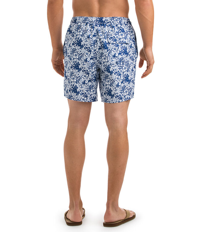 Two Tone Ocean Floral Chappy Trunks