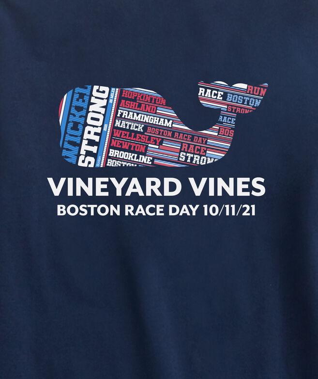 Wicked Strong Boston Marathon Whale Long-Sleeve Pocket Tee