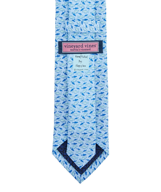 Fish With Shadow Printed Tie