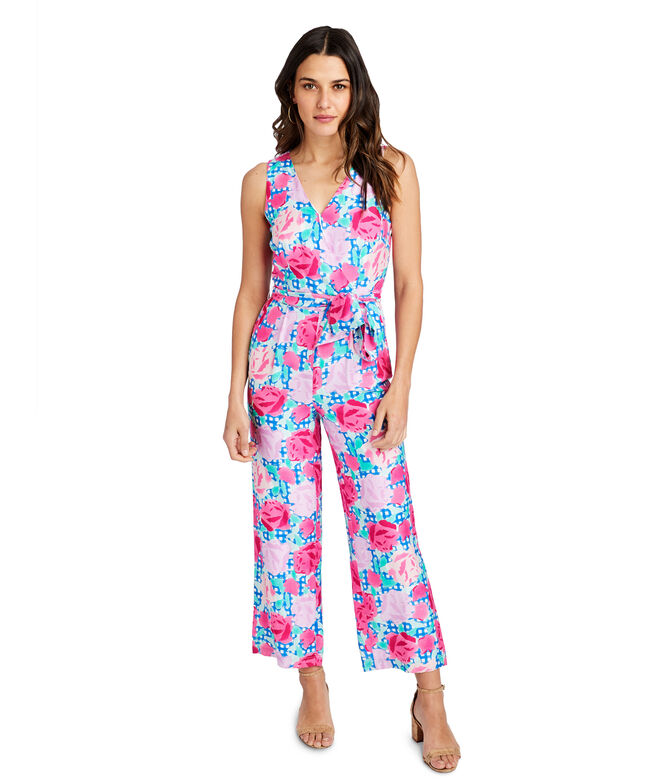 Run For The Roses Sleeveless Jumpsuit