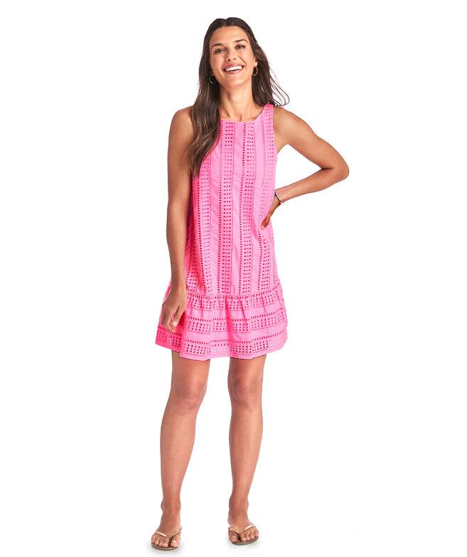 Sea Spray Eyelet Cisco Swing Dress