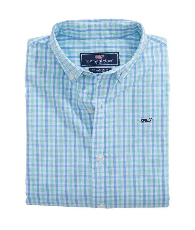 Boys Fresh Pond Plaid Whale Shirt