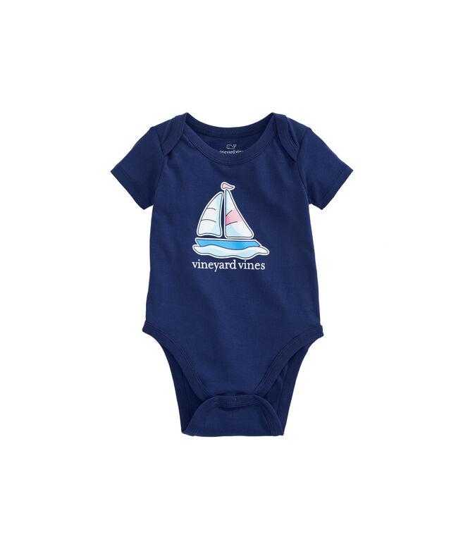 Baby Short-Sleeve Sailboat Bodysuit
