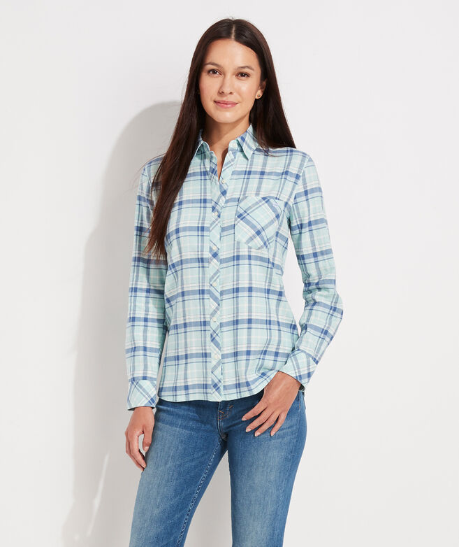 Plaid Chilmark Relaxed Button-Down Shirt