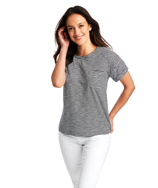 Striped Boxy Pocket Tee