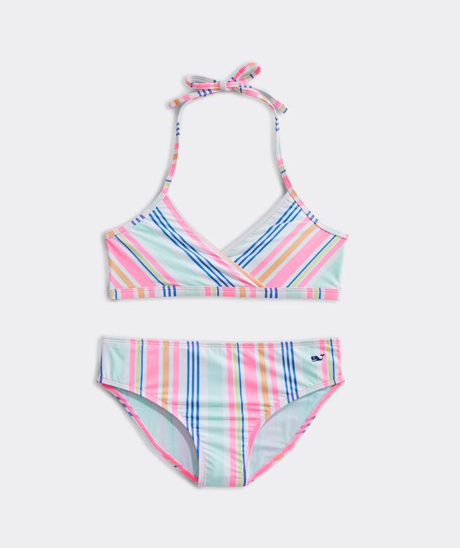 Girls' Boca Grande Stripe Classic Bikini