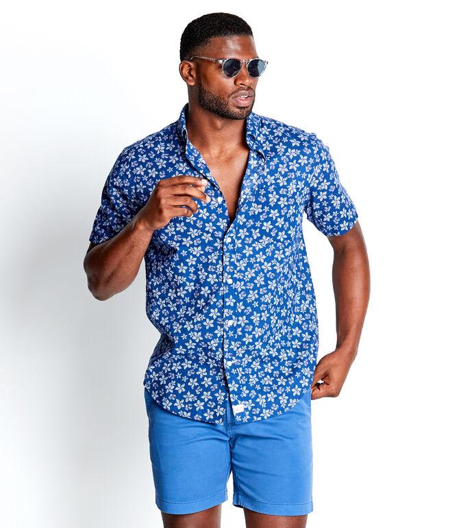 Short-Sleeve Baja Floral Slim Murray Shirt