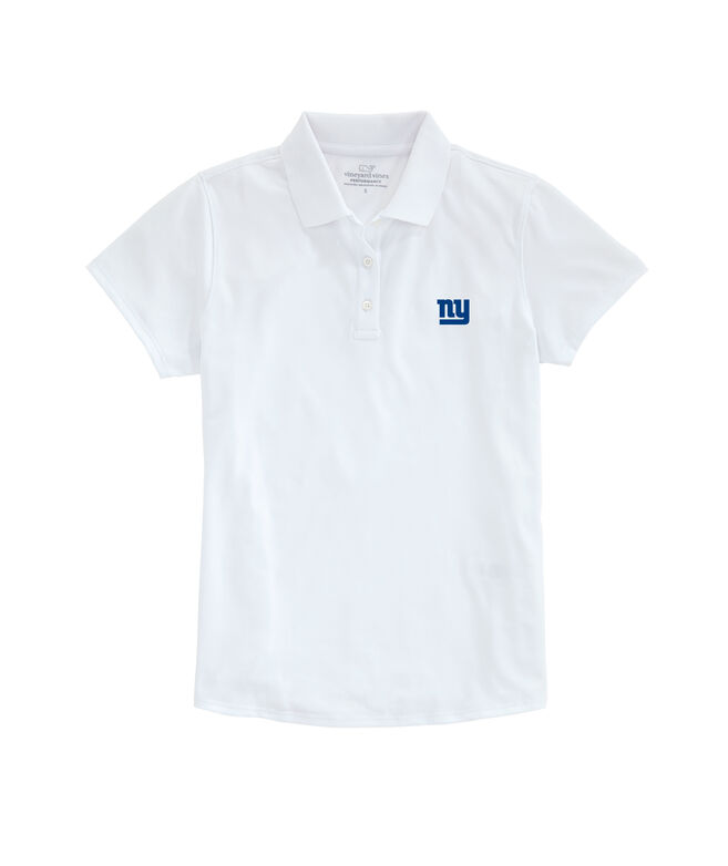 New York Giants Womens Performance Pique Stretch Polo