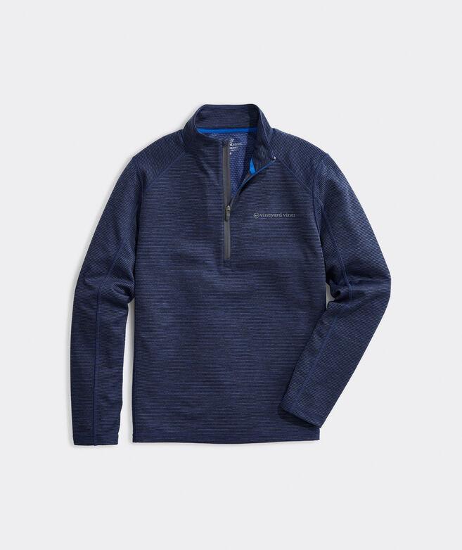 Big & Tall Striped Sankaty 1/2-Zip Pullover